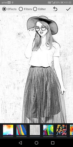 Pencil Photo Sketch-Sketching Drawing Photo Editor स्क्रीनशॉट 7