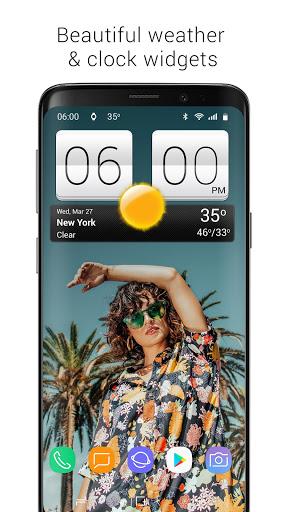 Sense V2 Flip Clock & Weather screenshot 1