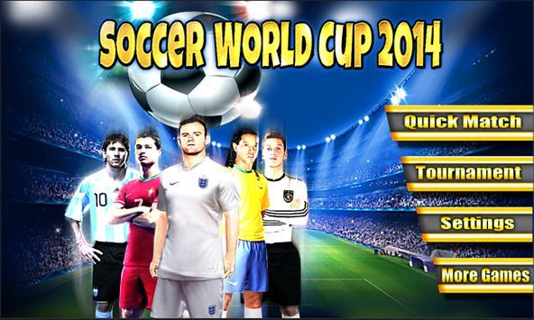 Soccer World Cup 2014 screenshot 1