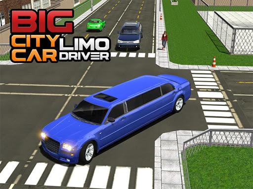 Big City Limo Car Driving Taxi Games screenshot 13