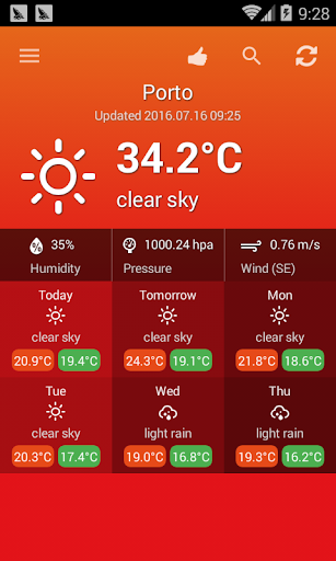 Weather Portugal screenshot 2