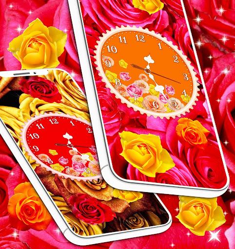 Rose Clock Live Wallpaper 🌹 4K Wallpapers Themes screenshot 5