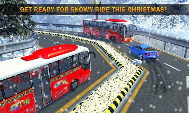 Uphill Bus Drive : Christmas Bus Simulator screenshot 1
