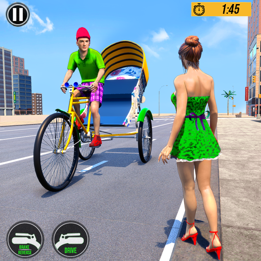 Bicycle Tuk Tuk Auto Rickshaw : Driving Games icon