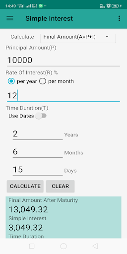 Interest Calculator screenshot 1