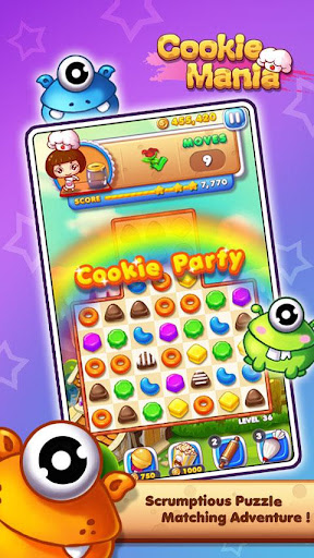Cookie Mania - Match-3 Sweet Game screenshot 1