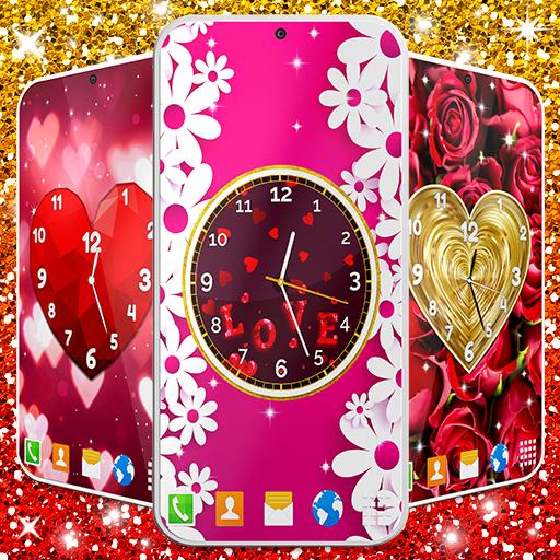 Love Clock Wallpaper ❤️ Hearts 4K Live Wallpaper icon