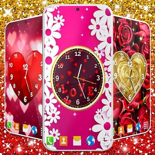 Love Clock Wallpaper ❤️ Hearts 4K Live Wallpaper