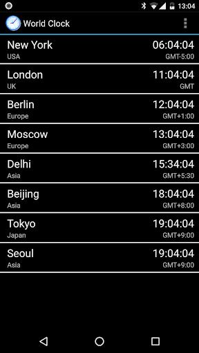 Dünya Saati & Widget'i screenshot 1