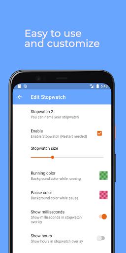 Floating Stopwatch, timer multitasking gratuito screenshot 5