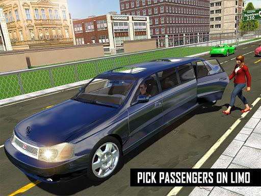 Big City Limo Car Driving Taxi Games screenshot 24