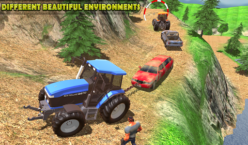 Tractor Pull Simulator Drive: Tractor Game 2021 स्क्रीनशॉट 2