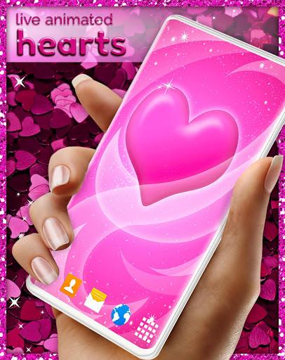Pink Hearts Live Wallpaper ❤️ Heart Wallpapers screenshot 6