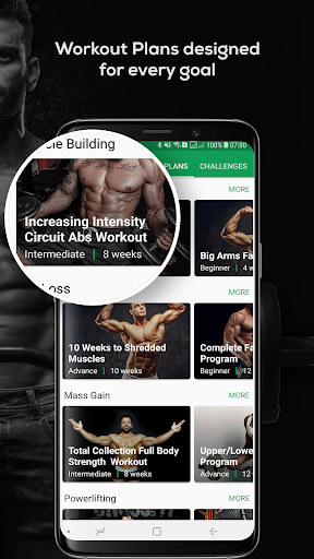 Fitvate - Home & Gym Workout Trainer Fitness Plans screenshot 2