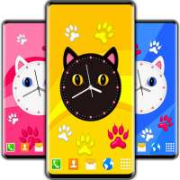 Kitty Clock Wallpaper 😻 Cute Cat Live Wallpapers on 9Apps