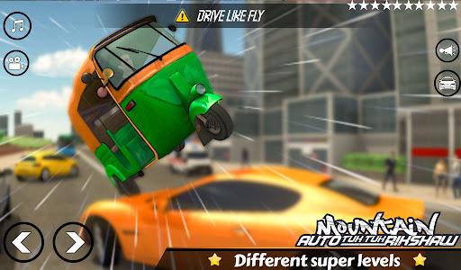 Mountain Auto Tuk Tuk Rickshaw:新しいゲーム2021 screenshot 5