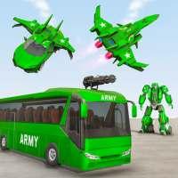 आर्मी बस रोबोट कार गेम - रोबोट गेम्स on 9Apps