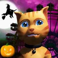 Thème Halloween Cat Parc 3D on 9Apps