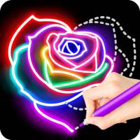 Learn To Draw Glow Flower on 9Apps