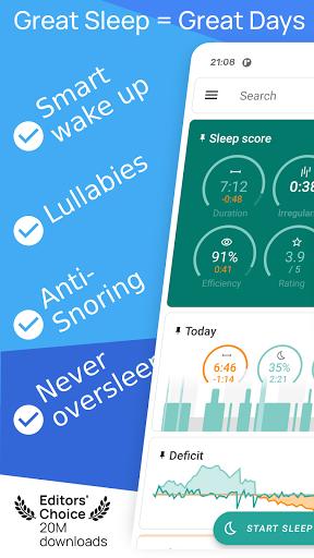 Sleep as Android: अपनी नींद को ट्रैक स्क्रीनशॉट 1
