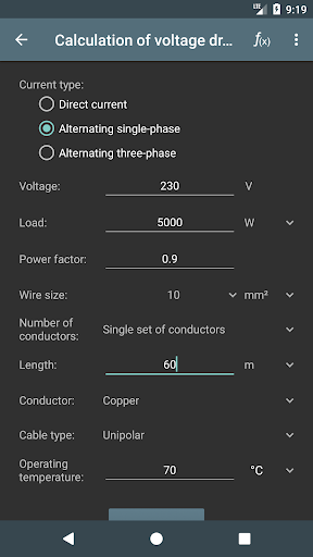 Electrical Calculations screenshot 3