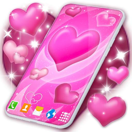 Pink Hearts Live Wallpaper ❤️ Heart Wallpapers