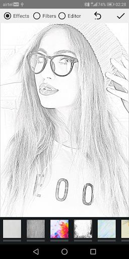 Pencil Photo Sketch-Sketching Drawing Photo Editor स्क्रीनशॉट 1