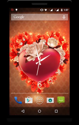 Heart Clock Live Wallpaper screenshot 1
