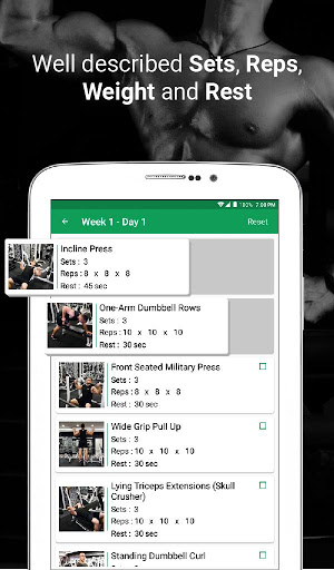 Fitvate - Home & Gym Workout Trainer Fitness Plans screenshot 15