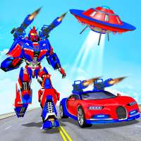 Flying Robot Car Games - Robot Shooting Games 2021 on 9Apps