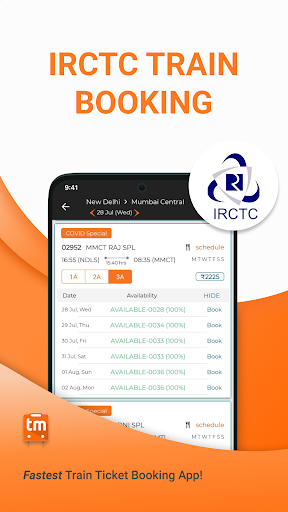 Train Ticket Booking App for IRCTC: Train man screenshot 1