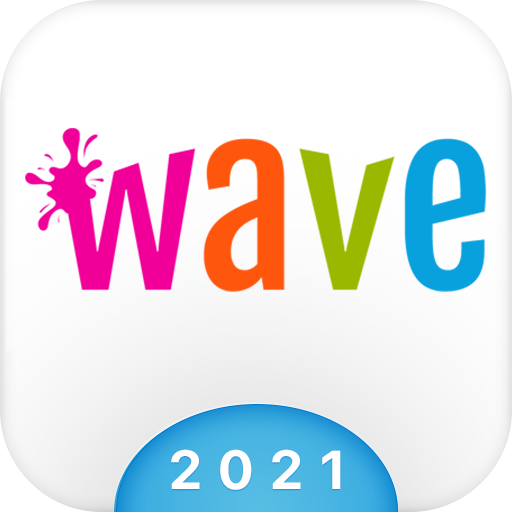 Wave Keyboard Background - Animations, Emojis, GIF icon
