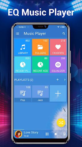 संगीत प्लेयर - ऑडियो प्लेयर स्क्रीनशॉट 2