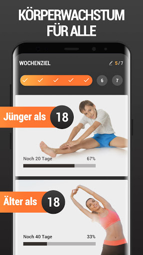 Mehr Körpergröße - Größer werden, Workout zuhause screenshot 1