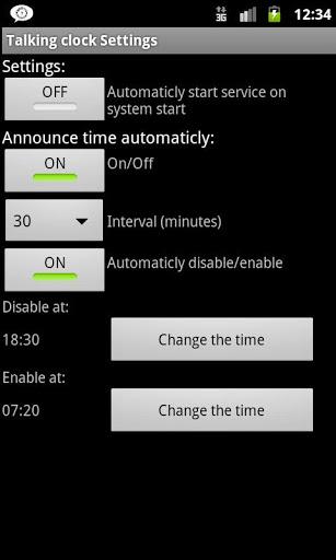 Talking Clock screenshot 3