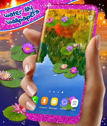 Water Lily Live Wallpaper 🌺 Flowers Wallpapers 6 تصوير الشاشة