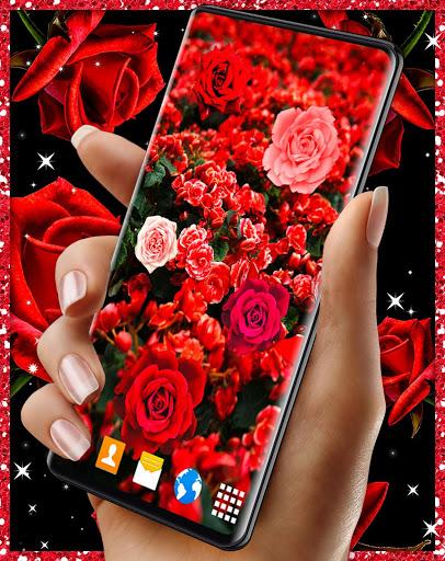 Red Rose Live Wallpaper 🌹 Flowers 4K Wallpapers screenshot 4