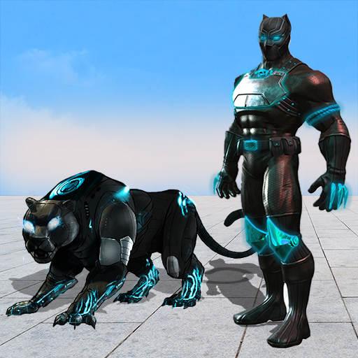 Flying Panther Robot Hero: Robot Black Hero Games