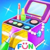 فتاة التجميل كعكة - لعبة ماكياج مربع الحلوى الخبز on 9Apps