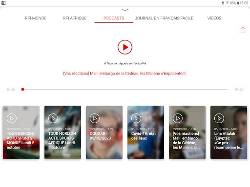 RFI - L'actualité mondiale en direct et podcast screenshot 5