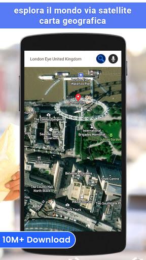 GPS satellite - terra mappe & voce navigazione screenshot 1