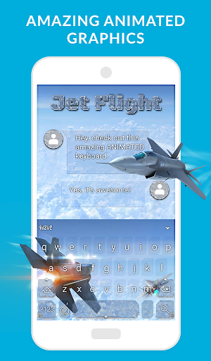 Wave Keyboard Background - Animations, Emojis, GIF screenshot 6