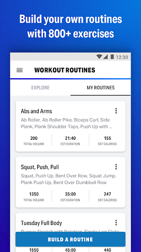 Map My Fitness Workout Trainer screenshot 2