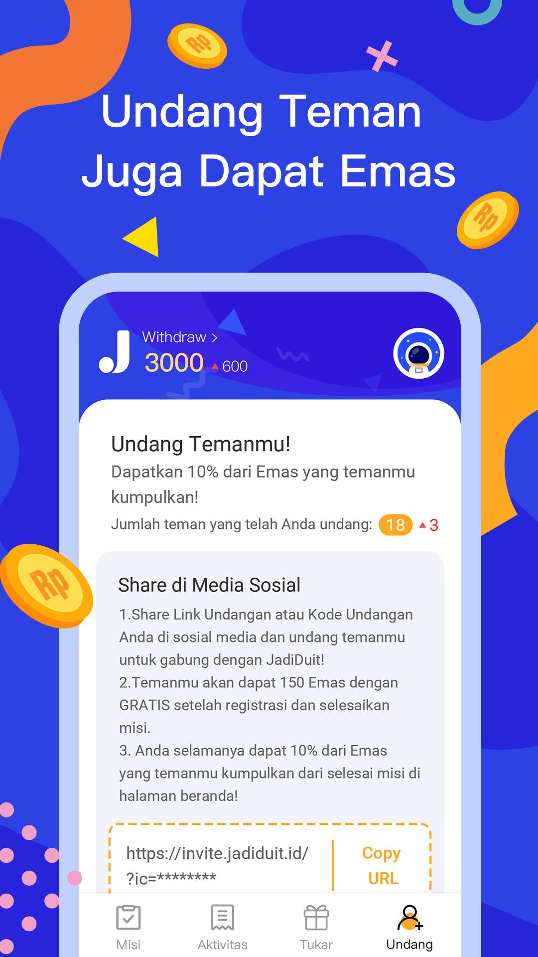 JadiDuit - Free dapat uang, data dan gift screenshot 4