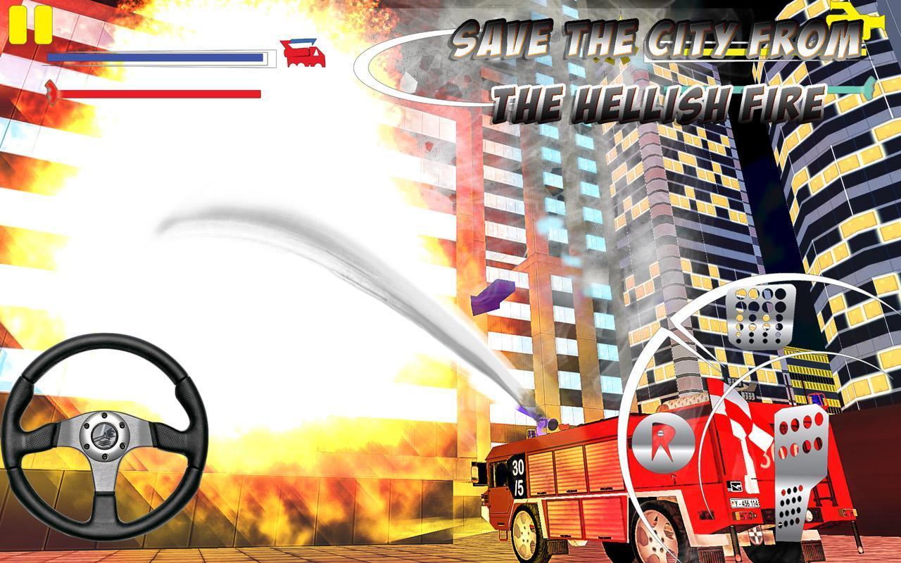 Firefighter-Fire Brigade Truck скриншот 3