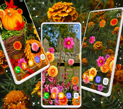Autumn Flowers 4K Live Wallpaper ❤️ Forest Themes 5 تصوير الشاشة