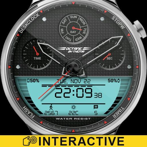 Octane Watch Face & Clock Widget иконка