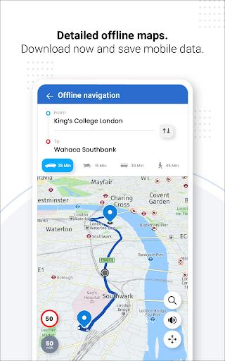 Navegação GPS ao vivo, mapas, direções e explorar screenshot 19