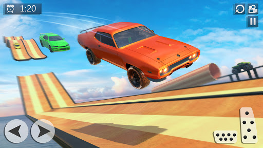 Mega Ramp Car Racing Stunts 3D - Impossible Tracks screenshot 4