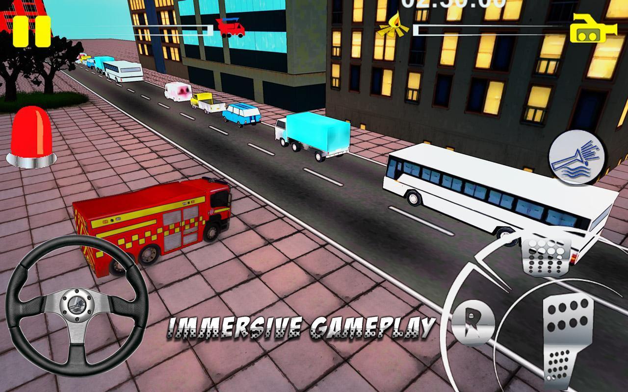 Firefighter-Fire Brigade Truck скриншот 2